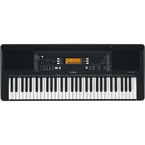 Yamaha psr e363 61 key portable arranger keyboard black for Yamaha piano keyboard 61 key psr 180