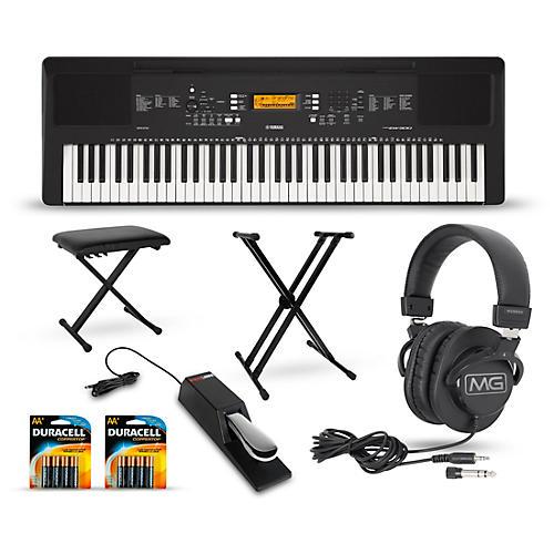 yamaha psr ew300 76 key portable keyboard package home package guitar center. Black Bedroom Furniture Sets. Home Design Ideas