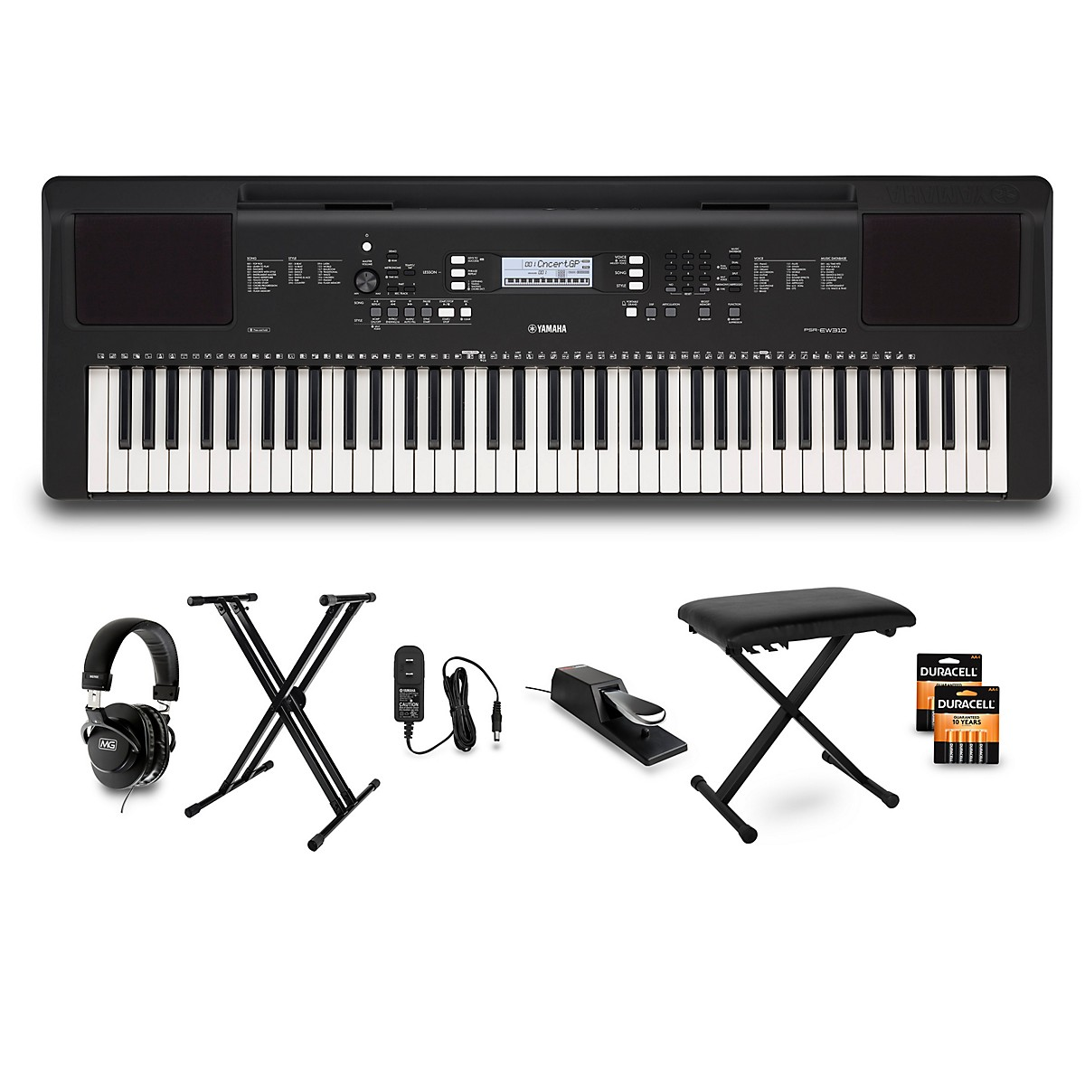 Yamaha PSR-EW310 76-Key Keyboard Package