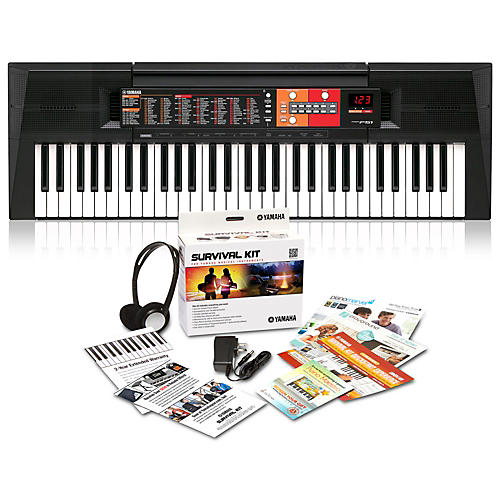 Yamaha PSR-F51HS 61-Key Portable Keyboard with Power Supply, Headphones and More