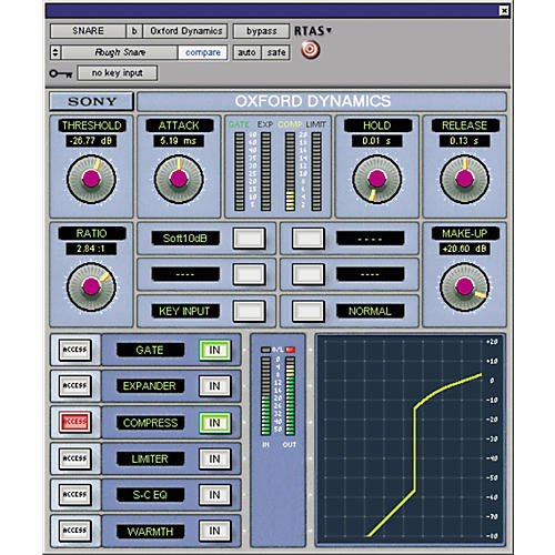 Sony PTL-DYNG2 Oxford Dynamics Plug-in for Pro Tools LE