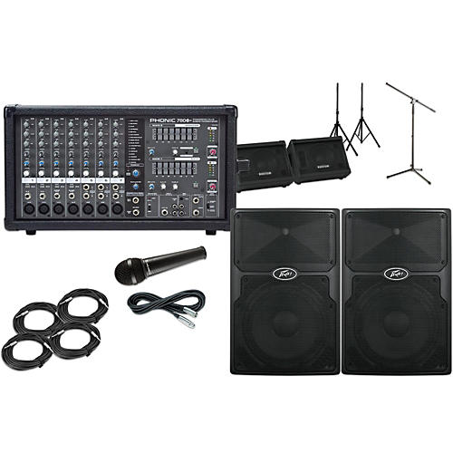 Peavey PVX12  with Phonic Powerpod 780 Mains and Monitors Package