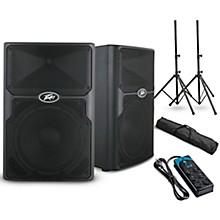 "Peavey PVXp 10 10"" Powered Speaker Pair and Power Strip"