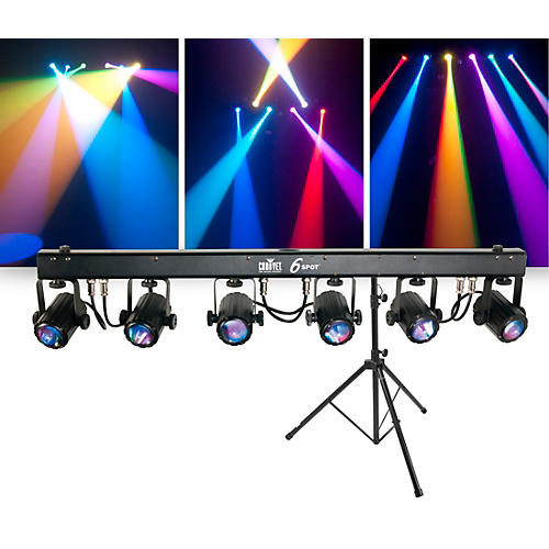 CHAUVET DJ Package with 6SPOT RGB LED Beam Lighting System and Stand ... cec0646e3bb6