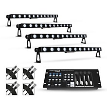 Proline Package with Four (4) Proline VENUE TriStrip3Z RGB LED Batten Strip Lights with DMX Controller and Cables