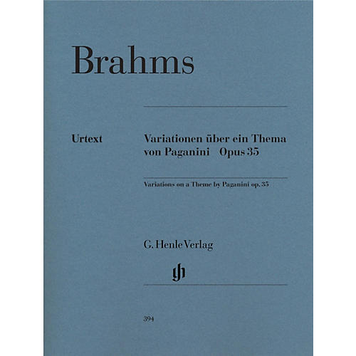 G. Henle Verlag Paganini-Variations Op. 35 Henle Music Folios Series Softcover