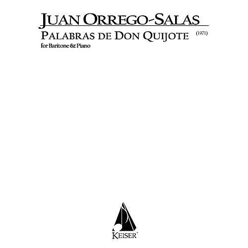 Lauren Keiser Music Publishing Palabras de Don Quijote, Op. 66 (Baritone) LKM Music Series Composed by Juan Orrego-Salas