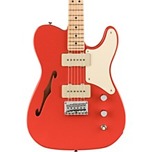 Paranormal Series Cabronita Telecaster Thinline Electric Guitar with Maple Fingerboard Fiesta Red