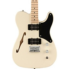 Paranormal Series Cabronita Telecaster Thinline Electric Guitar with Maple Fingerboard Olympic White