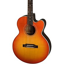 Parlor Modern Mahogany Acoustic-Electric Guitar Cherry Burst