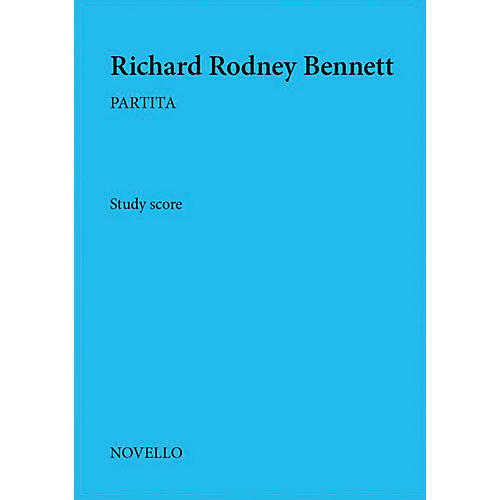 Novello Partita Music Sales America Series Softcover Composed by Richard Rodney Bennett