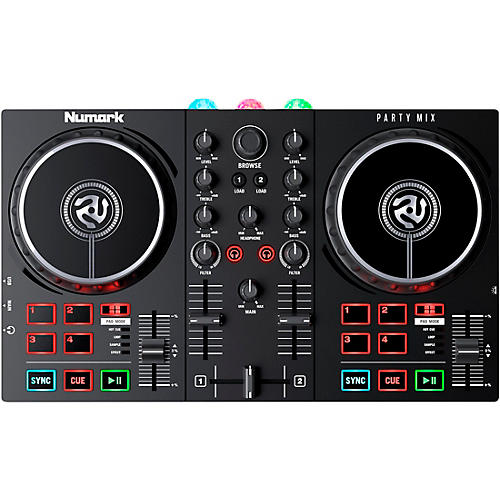 Numark Party Mix II DJ Controller with Built-In Light Show