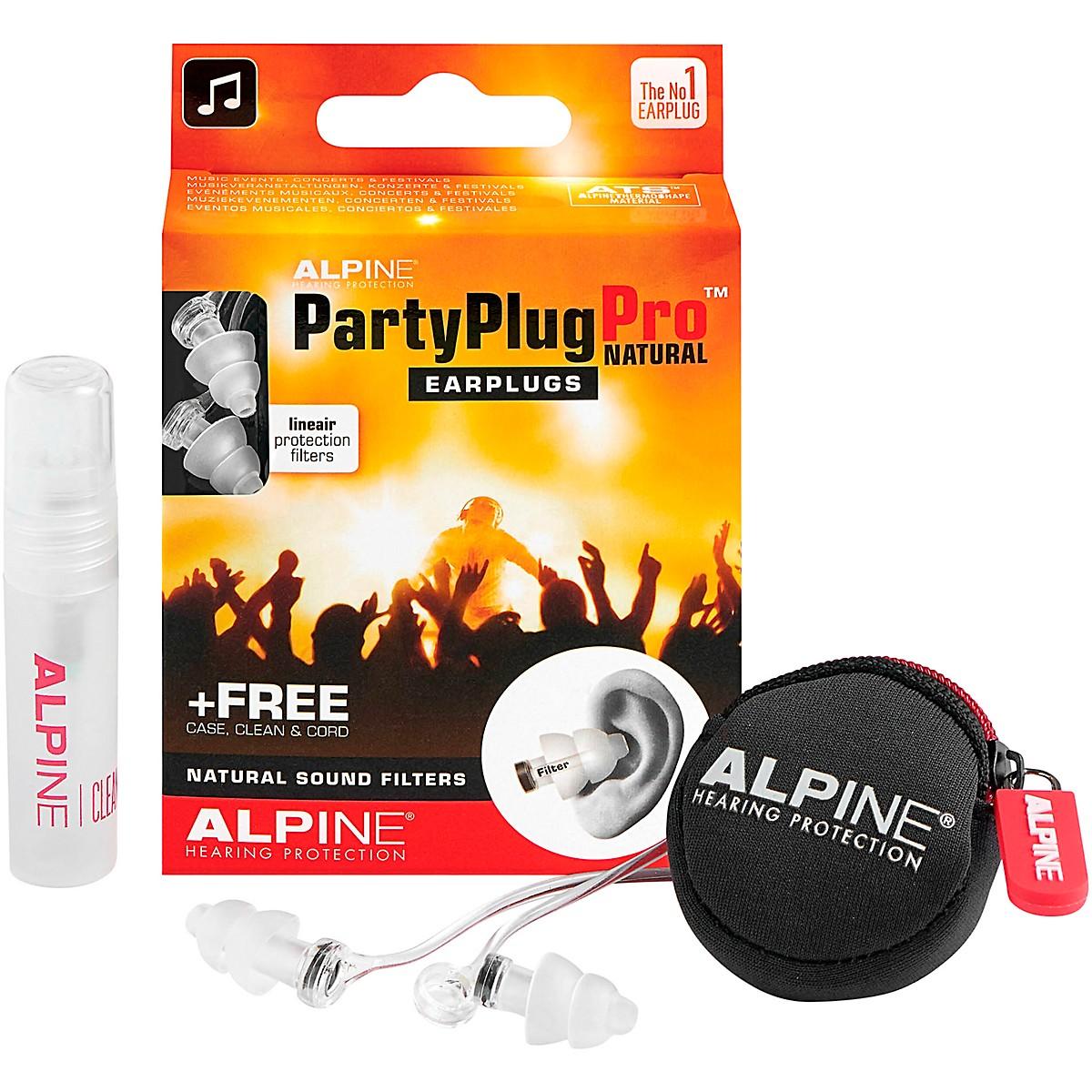 Alpine Hearing Protection PartyPlug Pro Natural Earplugs