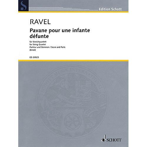 Schott Pavane pour une infante défunte for String Quartet / String by Wolfgang Birtel