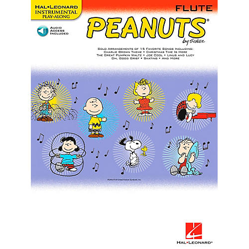Hal Leonard Peanuts for Flute - Instrumental Play-Along Book/CD