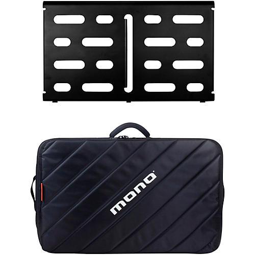 MONO Pedalboard Medium, Black and Tour Accessory Case 2.0, Black