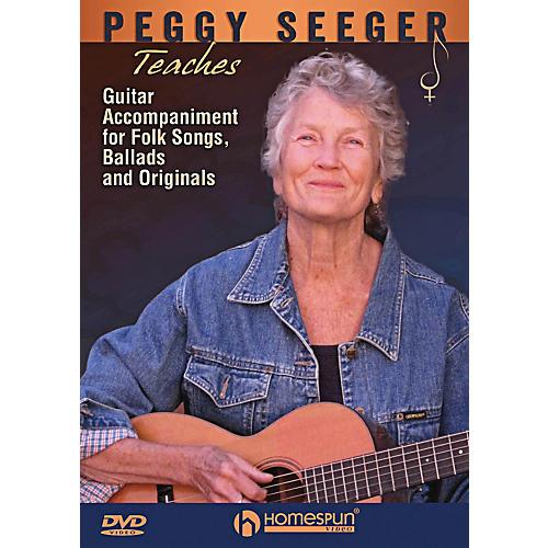 Homespun Peggy Seeger Teaches Guitar Accompaniment For Folk Songs, Ballads And Originals DVD