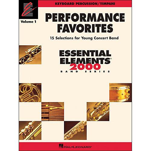 Hal Leonard Performance Favorites Volume 1 Keyboard Percussion & Timpani