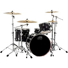 Performance Series 4-Piece Shell Pack Ebony Stain Lacquer with Chrome Hardware