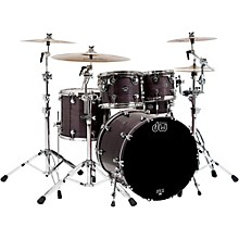 Performance Series 5-Piece Shell Pack Ebony Stain Lacquer with Chrome Hardware