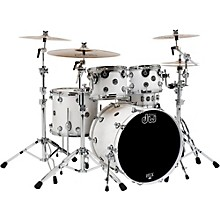 DW Performance Series 5-Piece Shell Pack Level 1 White Ice Lacquer with Chrome Hardware