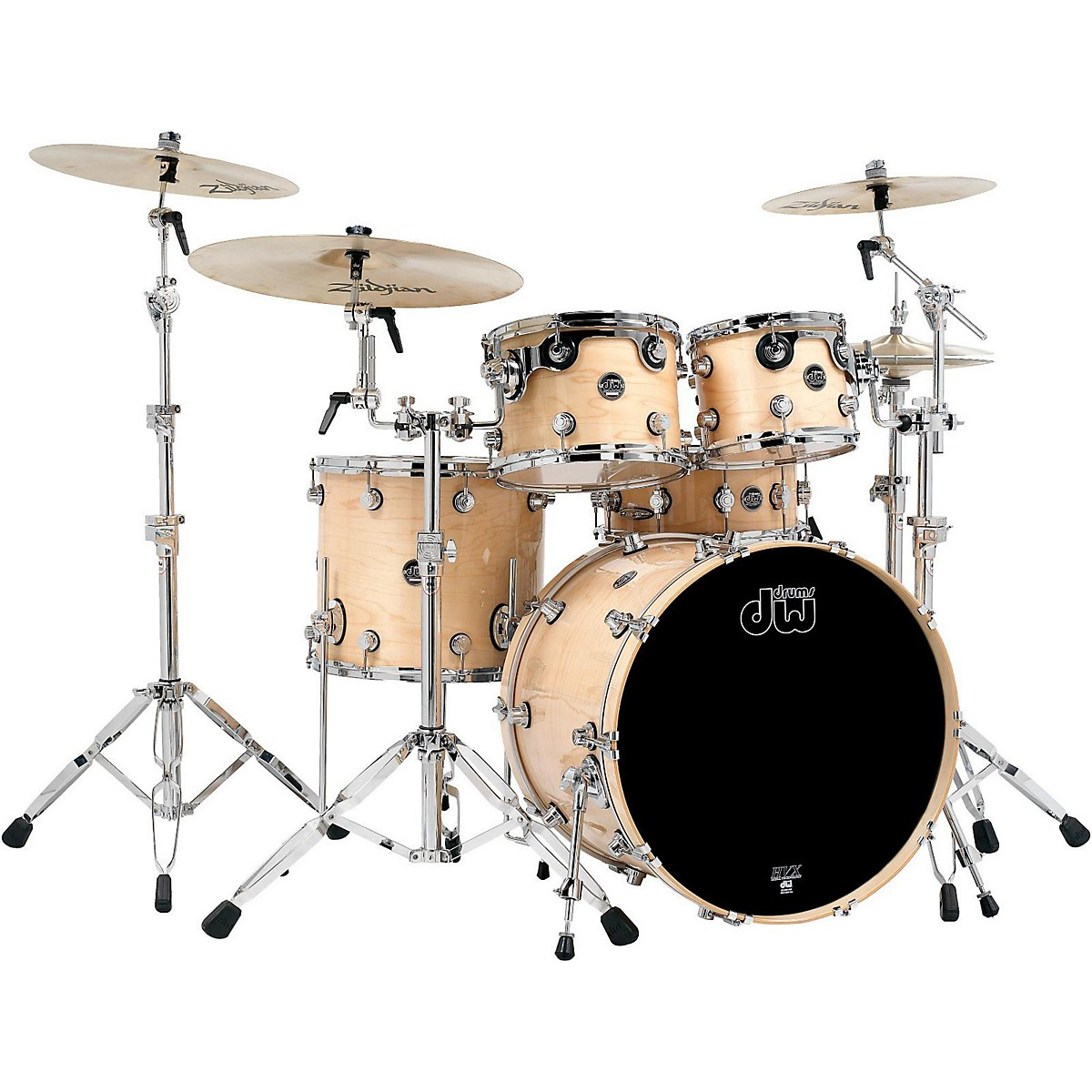 DW Performance Series Natural Shell Pack with Chrome Hardware