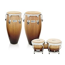 Performer Series 2-Piece Conga and Bongo Set with Chrome Hardware Vintage Fade