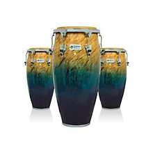 Performer Series 3-Piece Conga Set with Chrome Hardware Blue Fade