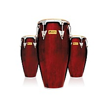 Performer Series 3-Piece Conga Set with Chrome Hardware Dark Wood