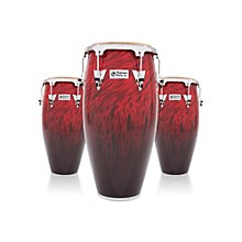 Performer Series 3-Piece Conga Set with Chrome Hardware Red Fade