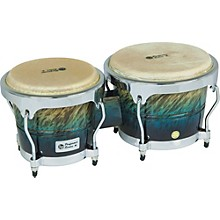 LP Performer Series Bongos with Chrome Hardware Level 1 Blue Fade