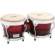 Performer Series Bongos with Chrome Hardware Red Fade