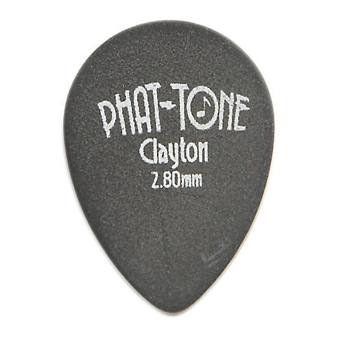 Clayton Phat-Tone Small Teardrop Rubber Picks 3-Picks