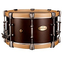 """Pearl Philharmonic African Mahogany Snare w/ Maple Hoops 15x8"""" Level 1"""