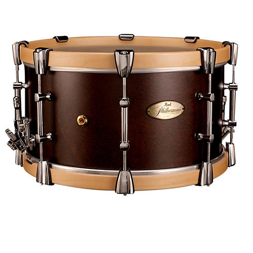 Pearl Philharmonic African Mahogany Snare w/ Maple Hoops 15x8