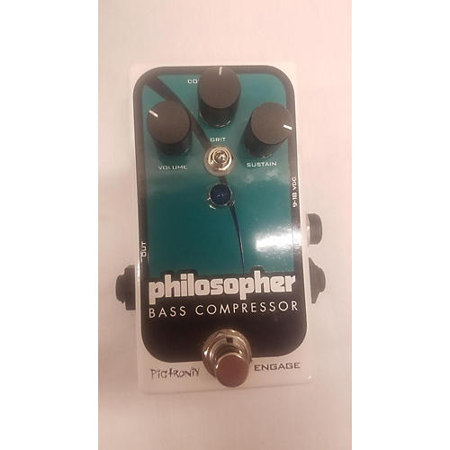 Pigtronix Philosopher Bass Compressor Bass Effect Pedal