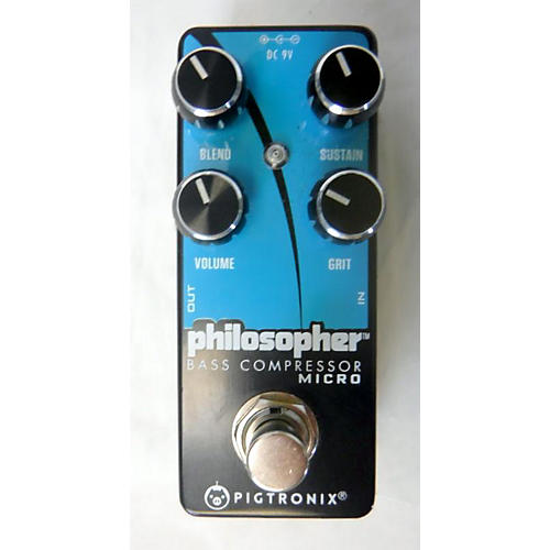 Pigtronix Philosopher Bass Compressor Micro Effect Pedal