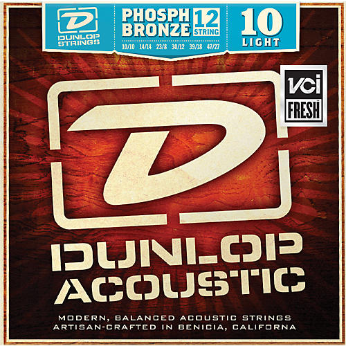 Dunlop Phosphor Bronze Light 12-String Acoustic Guitar String Set