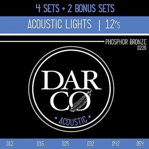 Darco Phosphor Bronze Light 6 Set Value Pack Acoustic Guitar Strings