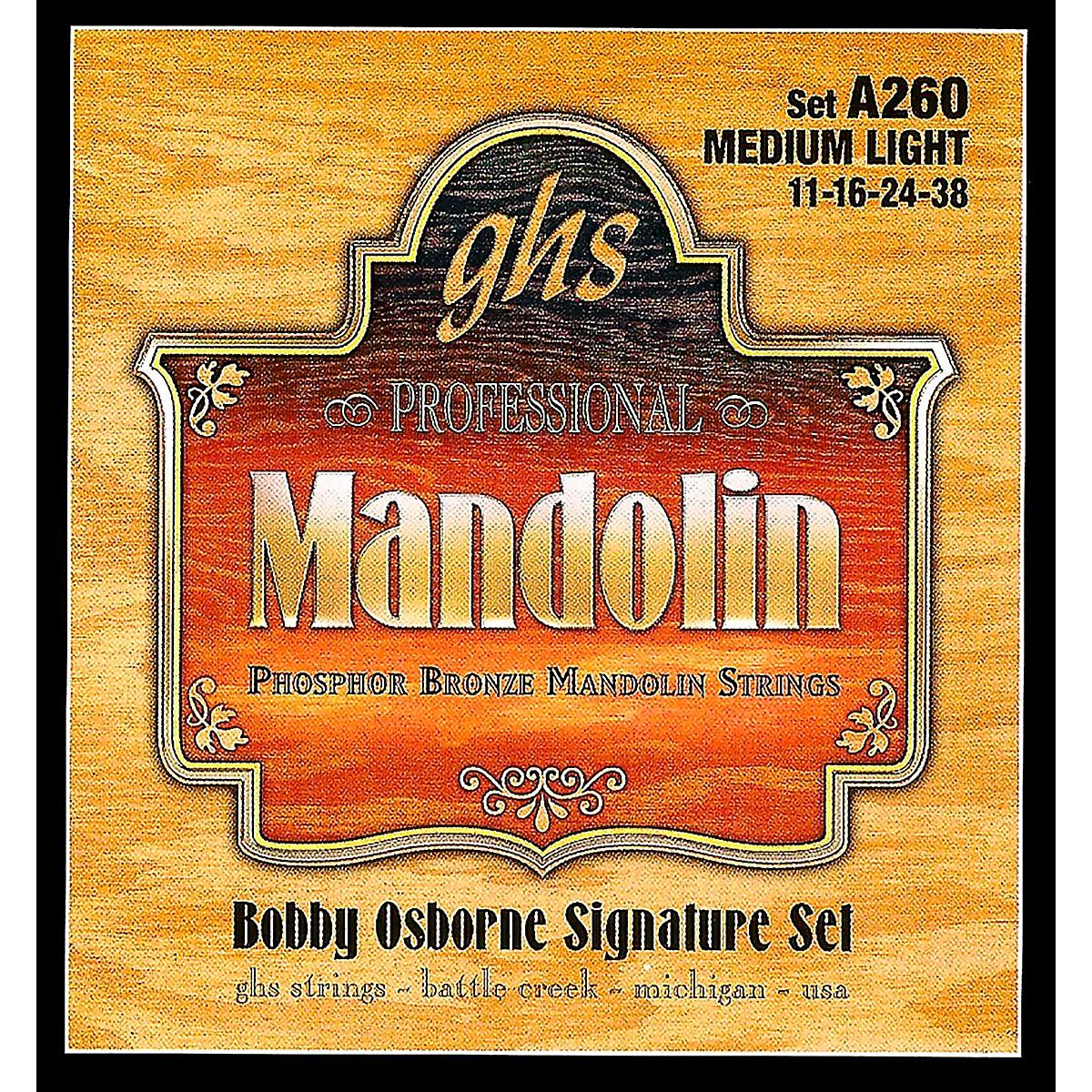 GHS Phosphor Bronze Mandolin Strings Medium Light