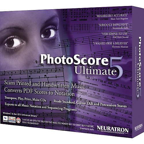 Neuratron PhotoScore Ultimate 5 Music Scanning Software