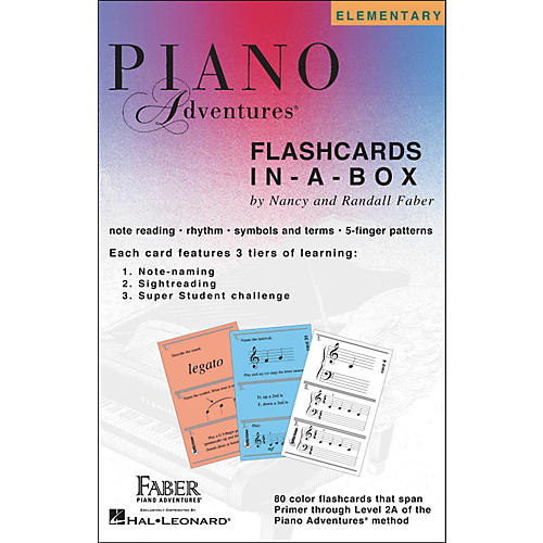 Faber Piano Adventures Piano Adventures FlashCards In-A-Box (Primer Level Through 2A Elementary) - Faber Piano