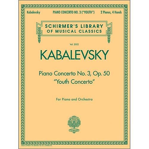 G. Schirmer Piano Concerto No 3 Op 50 2 Pianos 4 Hands Youth Concerto By Kabalevsky