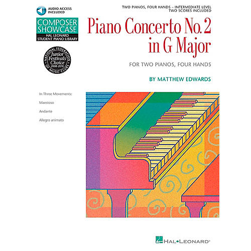 Hal Leonard Piano Concerto No. 2 In G Major 2 Pianos 4 Hands Book/CD Composer Showcase Hal Leonard Student Piano Library by Matt Edwards
