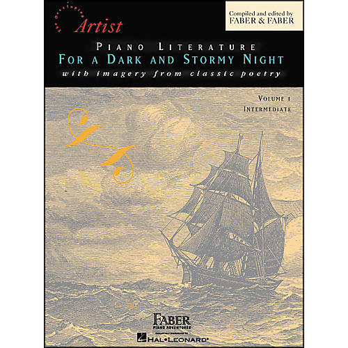 Faber Piano Adventures Piano Literature for A Dark And Stormy Night Volume 1 Intermediate Book - Faber Piano