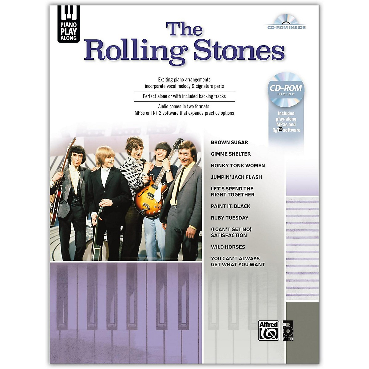Alfred Piano Play-Along: The Rolling Stones Piano/Vocal Book & CD-ROM Songbook