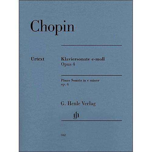 G. Henle Verlag Piano Sonata In C Minor Op. 4 By Chopin / Mullemann