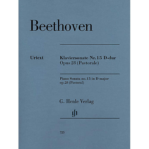 G. Henle Verlag Piano Sonata No. 15 in D Major, Op. 28 (Pastoral) Henle Music Folios Series Softcover