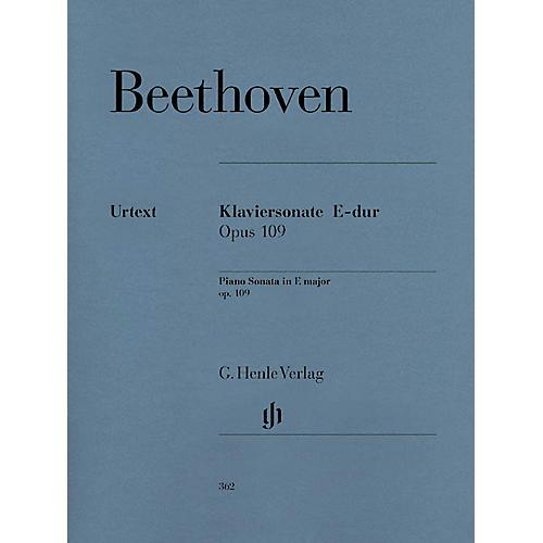 G. Henle Verlag Piano Sonata No. 30 in E Major Op. 109 Henle Music Folios Series Softcover