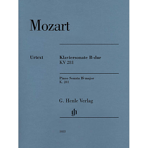 G. Henle Verlag Piano Sonata in B-flat Major, K281 (189f) Henle Music Softcover by Mozart Edited by Ernst Herttrich